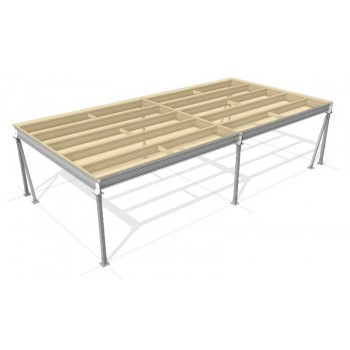 Lagerbühne 10 x 5 : 500 kg/m2