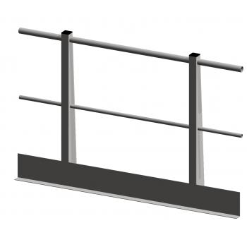 Geländer Rundrorh H=1100mm - L=3 meter